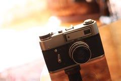 Retro of a photo camera. Old retro a photo camera Royalty Free Stock Photo