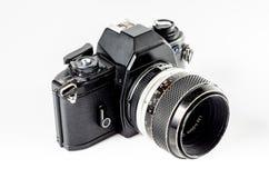 Retro photo camera :Clipping path included Stock Image
