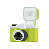 Retro photo camera stock illustration
