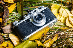 Retro photo camera Royalty Free Stock Photo