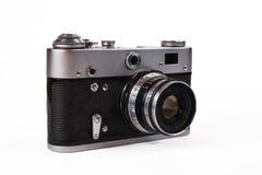 Retro photo camera. Isolated on white background Royalty Free Stock Photo