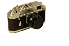 Retro photo camera isolated on white background Royalty Free Stock Photography