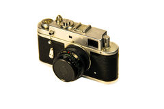 Retro photo camera isolated on  white background Stock Photo