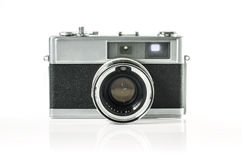 Retro photo camera isolated on white :Clipping path Stock Images