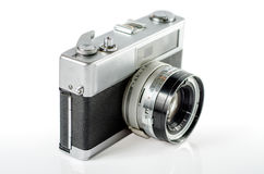 Retro photo camera isolated on white :Clipping path Royalty Free Stock Photography
