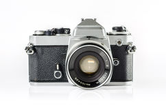 Retro photo camera isolated on white :Clipping path Stock Image