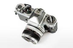 Retro photo camera isolated on white :Clipping path Royalty Free Stock Photo