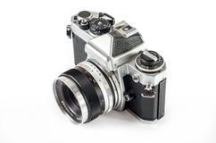 Retro photo camera isolated on white :Clipping path Stock Photos