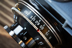 Retro photo camera lens Stock Photography
