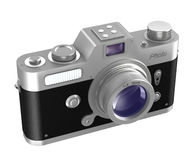Retro photo camera over white. My own design. Stock Images