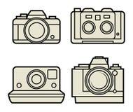 Retro photo camera set Royalty Free Stock Photo