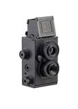 Retro photo camera with two lenses royalty free stock image