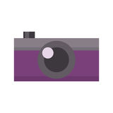 Retro photo camera vector illustration. Royalty Free Stock Photo