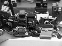 Retro photo cameras Stock Images