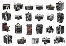 Retro photo cameras Royalty Free Stock Images
