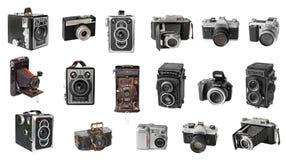 Retro photo cameras. Photo memory Stock Images