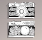Retro photo cameras set Royalty Free Stock Photos