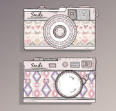 Retro photo cameras set Stock Images