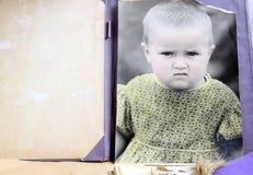 Retro photo of the child. Royalty Free Stock Image