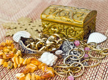 Retro photo of different old women accessories Royalty Free Stock Photo