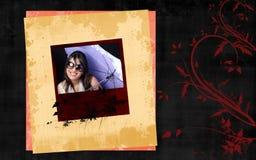 Retro photo frame stock photography