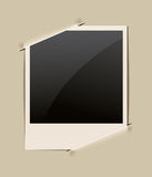 Retro photo frame. On paper background Royalty Free Stock Image