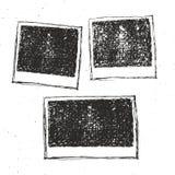 Retro photo frame hand drawn sketch set template design. vector illustration Royalty Free Stock Photos