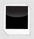 Retro photo frame isolated on white background. Vector illustration Stock Photos