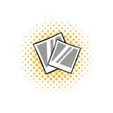 Retro photo frame polaroid comics icon Royalty Free Stock Photography