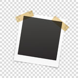 Retro photo frame  on transparent Royalty Free Stock Photography