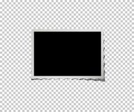 Retro photo frame  on transparent background. Vector. Retro photo frame  on transparent background. Vector illustration Stock Images