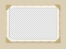 Free Retro Photo Frame. Vintage Old Postcard For Album Or Picture With Decoration Edges Vector Template Royalty Free Stock Photography - 174401667