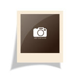 Old polaroid photo Royalty Free Stock Images