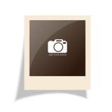 Old polaroid photo. Retro polaroid photo frame on white background Royalty Free Stock Images