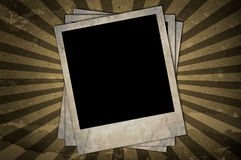 Retro photo frames Stock Image