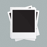 Retro photo frames. Vector illustration Stock Image