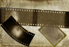 Retro photo framework against an old paper. With filmstrip vector illustration