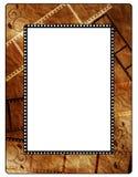 Retro photo framework on old paper, filmstrip. Photo frameworks on old paper with filmstrip Royalty Free Stock Photography
