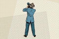 Retro photo journalist paparazzi. Vintage comics cartoons illustration pop art retro vector Stock Photos
