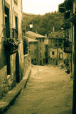 Retro photo of  medieval Catalan village Stock Photography