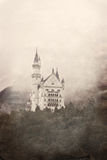 Retro photo of Neuschwanstein Castle in Bavaria Stock Photo
