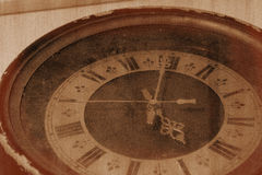 Retro photo old clock Stock Photography