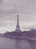 Retro photo with paris, france, vintage Royalty Free Stock Photo