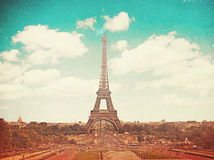 Retro photo with paris, france, vintage Royalty Free Stock Photography