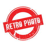 Retro Photo rubber stamp Stock Images