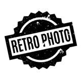 Retro Photo rubber stamp Stock Photo