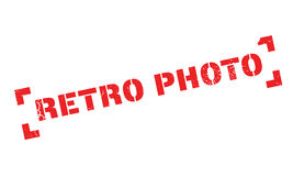 Retro Photo rubber stamp Stock Photography