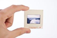 Retro photo slide stock image