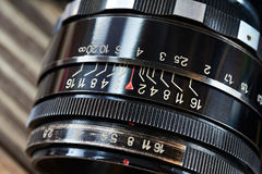Retro photo slr camera lens Royalty Free Stock Photos