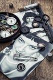 Retro photo stylish women Stock Photos